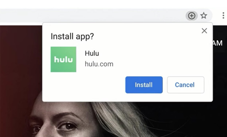 A progressive web app asking for installation