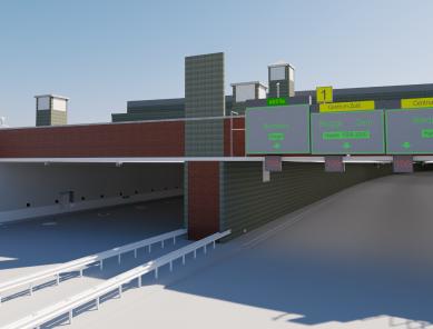 3D render highway